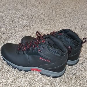 leather water proof boots black,gray,red